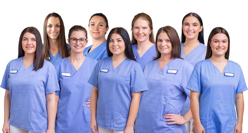 Gruppenbild Dentalhygienikerinnen